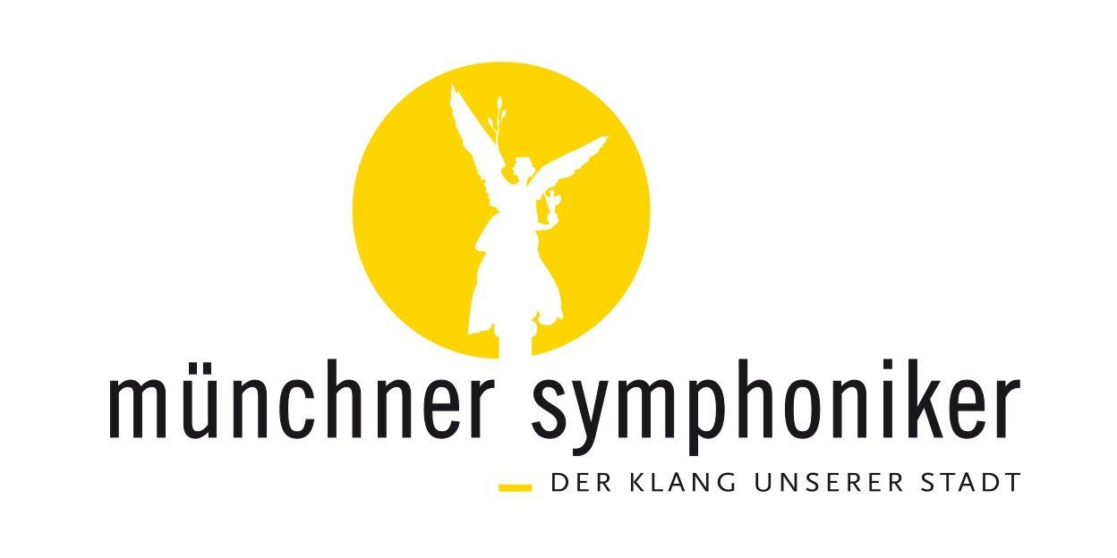 """Münchner Symphoniker Der Klang unserer Stadt. Logo """"Gelber Engel"""""""