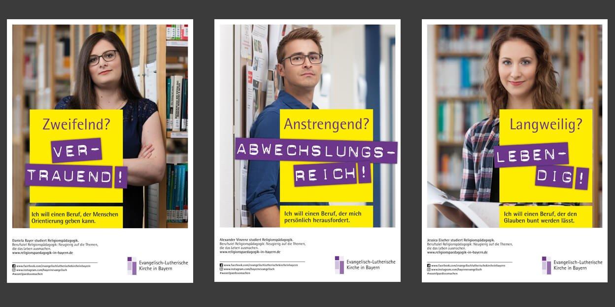 Recruiting-Kampagne der Evangelisch-Lutherischen Kirche in Bayern Poster
